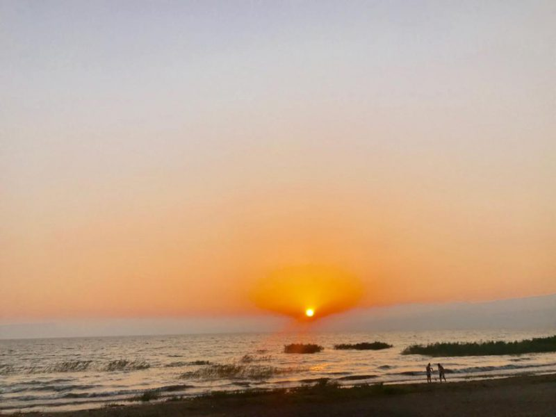 שקיעה בחוף גולן